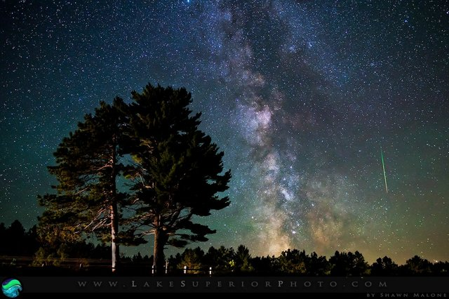 Perseids over Marquette