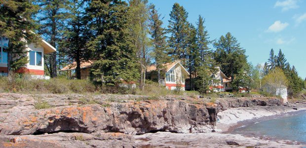 A classic lake superior resort adds a new twist lake for Castle haven cabins