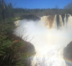 High Falls on the Pigeon River