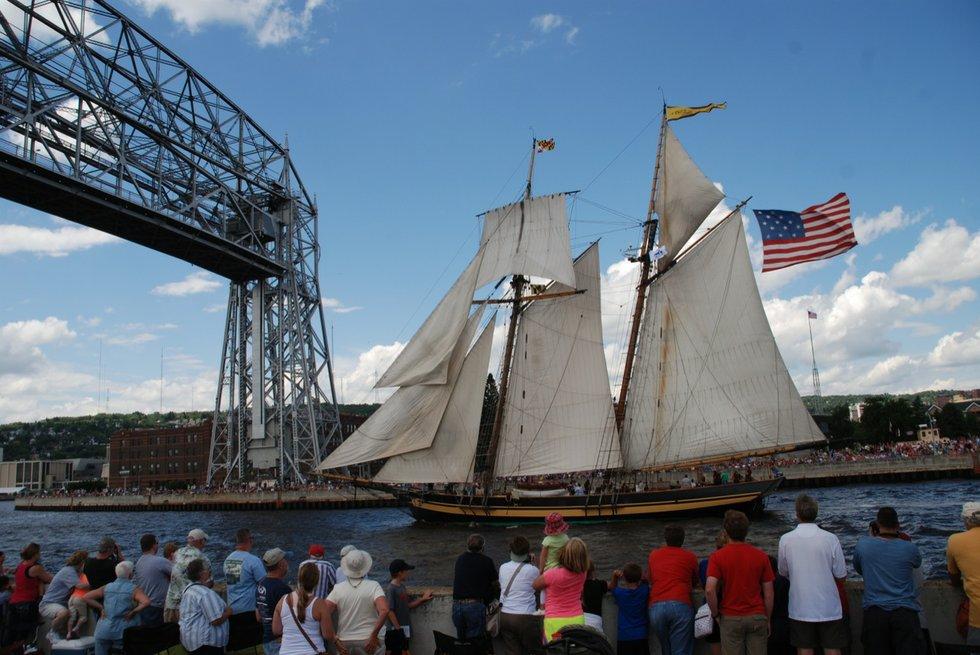 Tall Ships Duluth 2013 Parade Of Sail Lake Superior