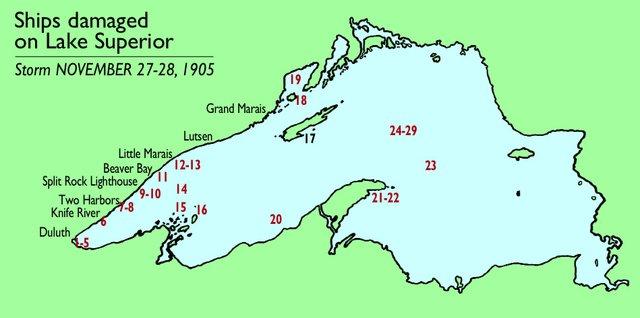 1905 Storm: Ships Damaged on Lake Superior
