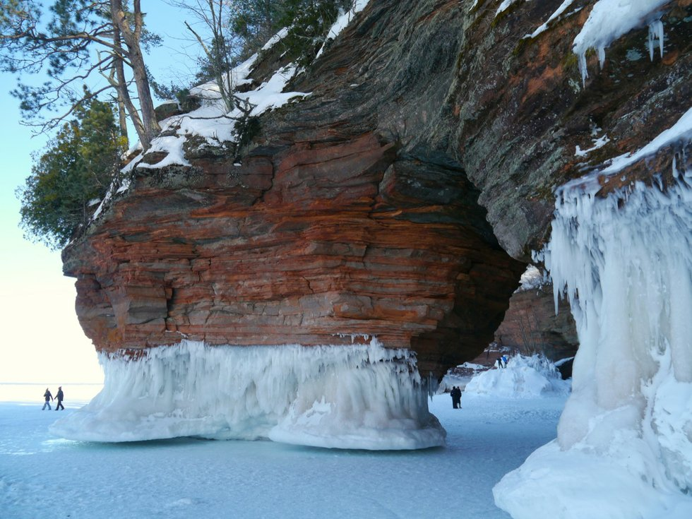 The Ice Caves Of Apostle Islands National Lakeshore Lake