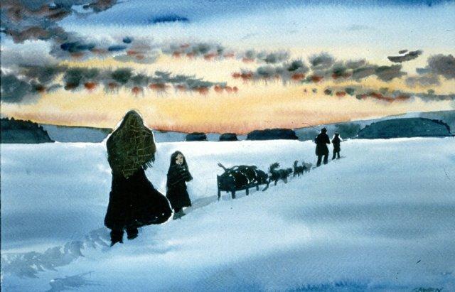 Isle Royale Winter Crossing