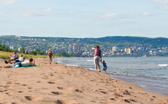 Park Point Beach, Duluth