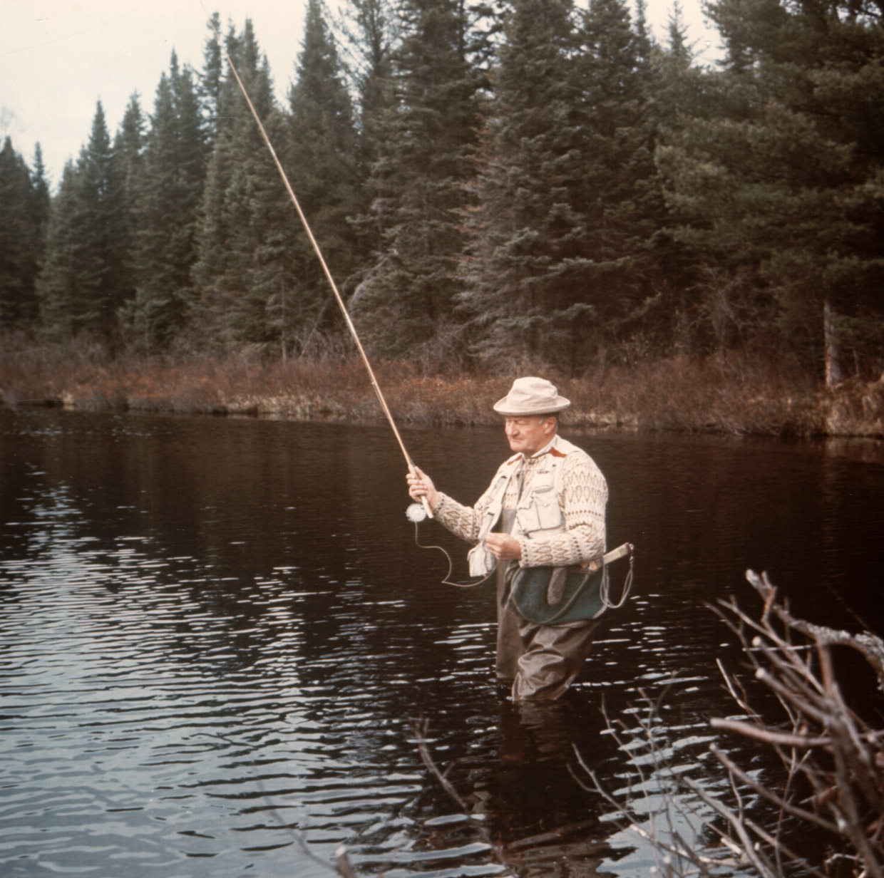 Casting A Line With A Up Legend Lake Superior Magazine