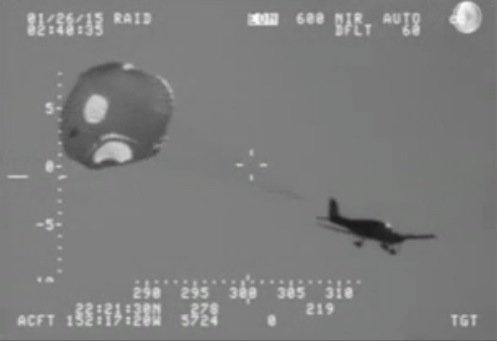 Plane Uses Parachute System to Ditch