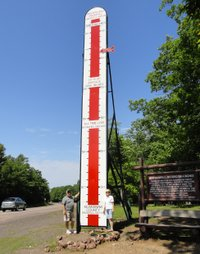 Keweenaw Snow Gauge, Mohawk, Michigan