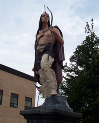 Old Ish Statue, Ishpeming, Michigan