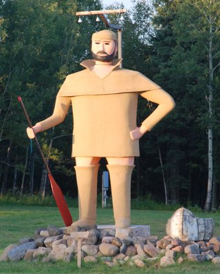 Pierre the Pantsless Voyageur, Two Harbors, Minnesota