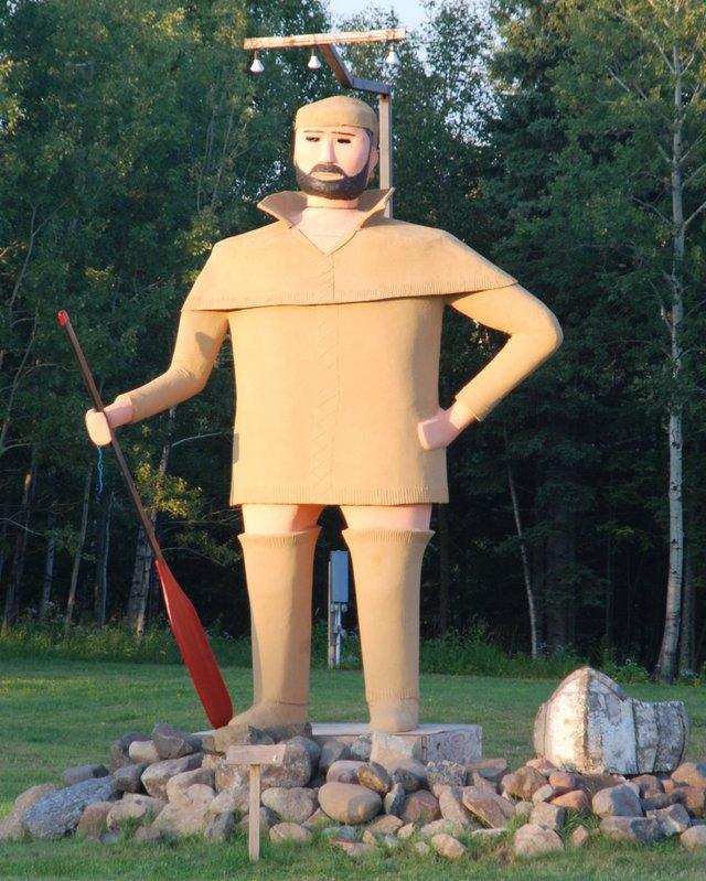 Pierre the Pantsless Voyageur, Two Harbors, Minnesota