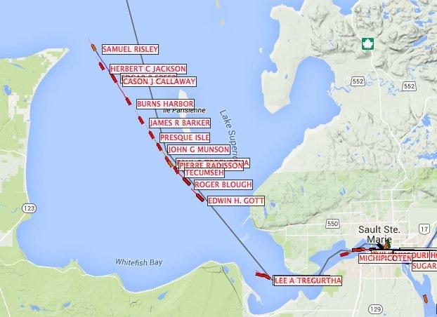 Vessel Traffic: April 8, 2015