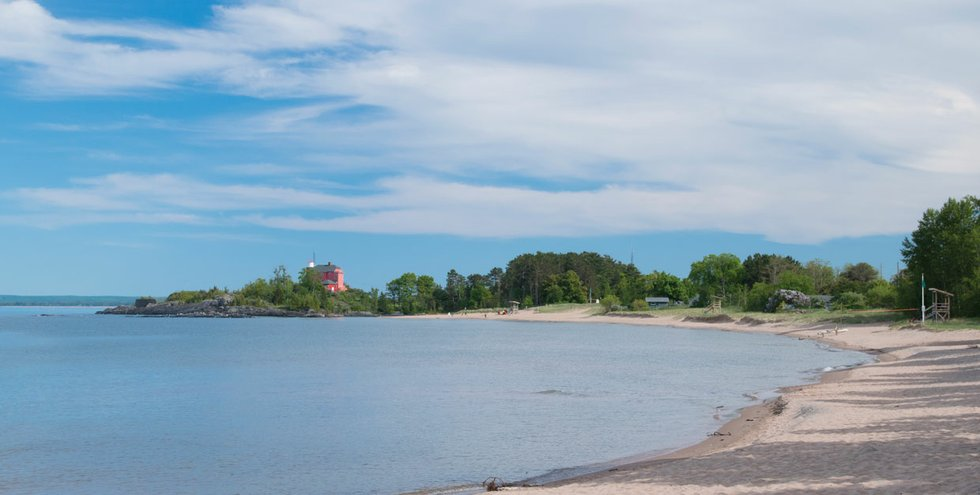 McCarty's Cove in Marquette was voted Best Beach on the Michigan shore in the 2015 Best of the Lake.