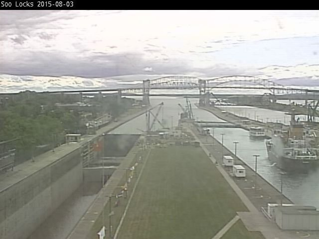 Soo Locks Webcam, August 3, 2015