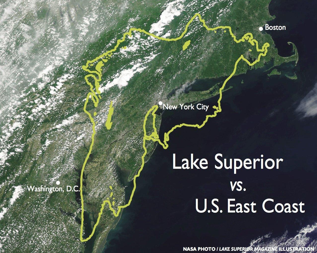 How Big is Lake Superior? - Lake Superior Magazine