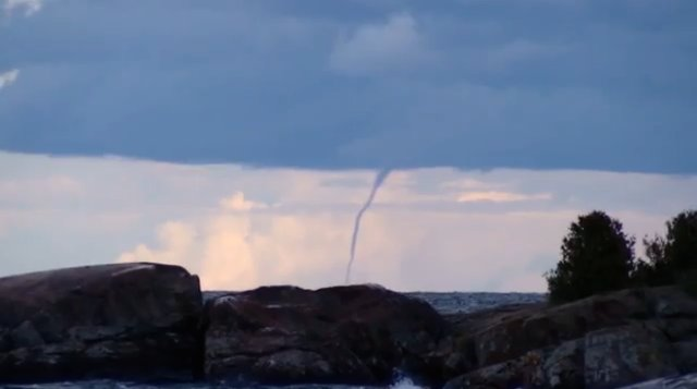 Waterspout in Marquette