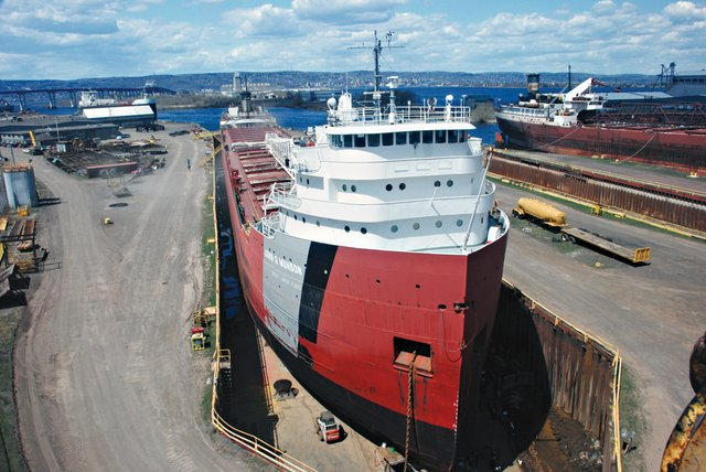 Inside Fraser Shipyards