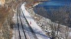 Visit Duluth - Lakewalk Runner in Winter