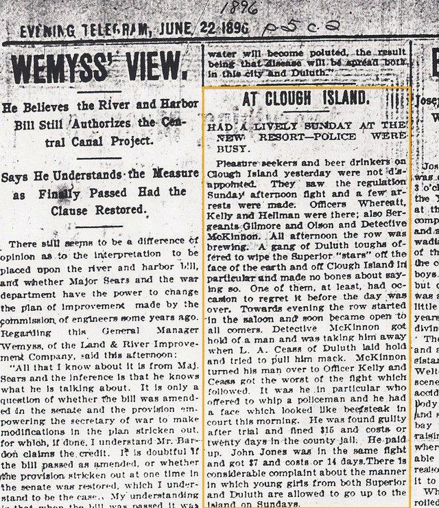 Superior Evening Telegram, June 22, 1896
