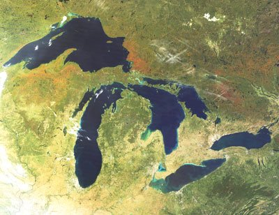 Great Lakes by Satellite