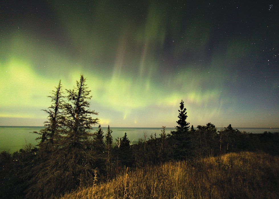Northern Lights from Brockway Mountain