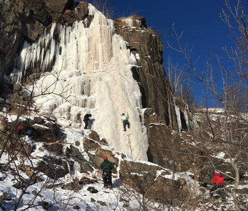 Visit Duluth - Ice Climbing at Quarry Park