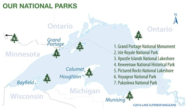 Our National Parks Lake Superior Magazine - National parks in michigan