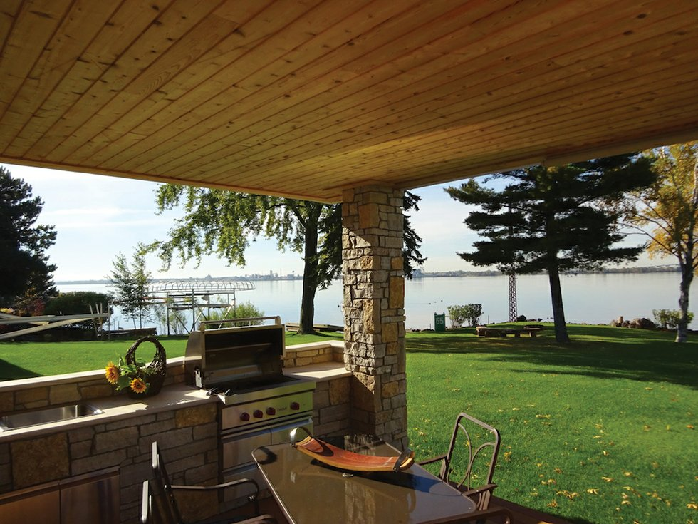 Building an outdoor room lake superior magazine for Building an outdoor room