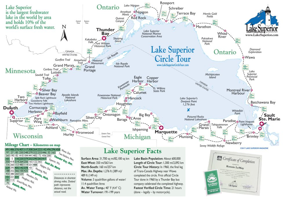 Simple Map Of Lake Superior Lake Superior Magazine - Simple map of eastern us