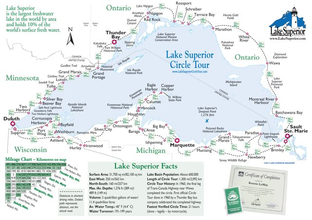 Map Of Lake Superior Simple Map of Lake Superior   Lake Superior Magazine