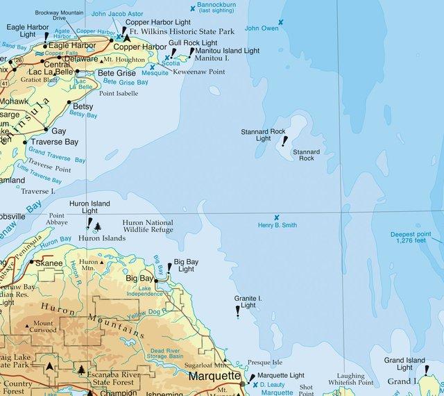 Stannard Rock map