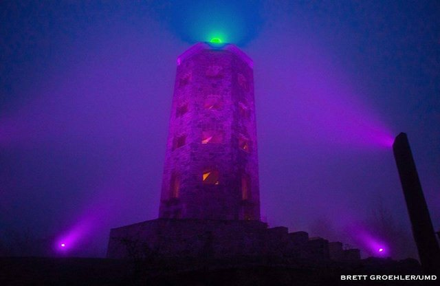 Enger Tower in Purple
