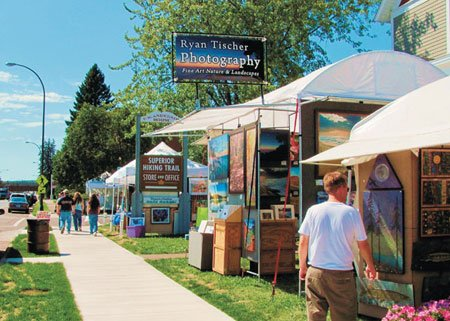 An art festival along Highway 61 through town