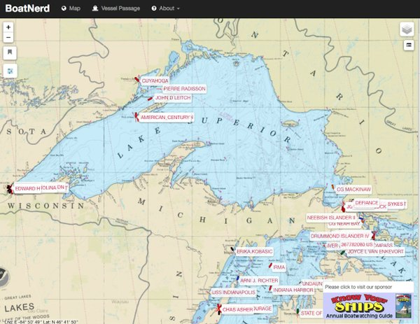 Boatnerd AIS map