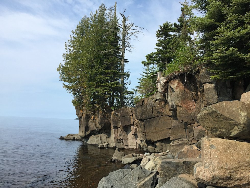 Lake Superior rocky shore