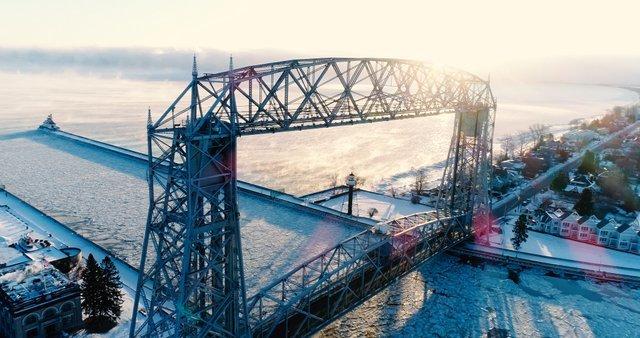Aerial Lift Bridge - Winter